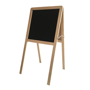 Portable Fold-able Two Sided A frame standing art paint floor easel with chalk board and whiteboard
