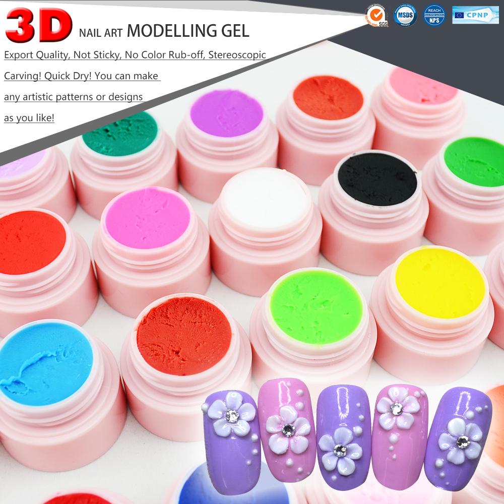 40261w Nail Art Gel 24 Colors Nail Sculpting Gel 3d Acrylic Gel ...