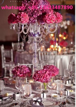 Tall wedding candelabra centerpieces , glass candelabra for table decor
