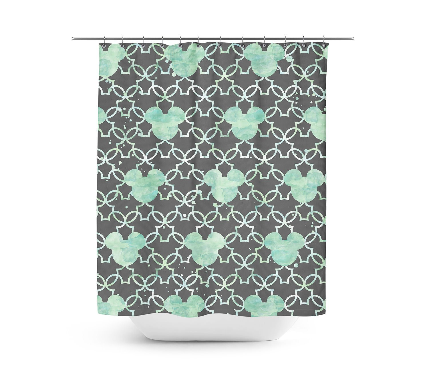 Mint Green Shower Curtain. Get Quotations  Mickey Mouse Watercolor Mint Green Shower Curtain 60x72 Medium Unique in 4 sizes for Cheap find