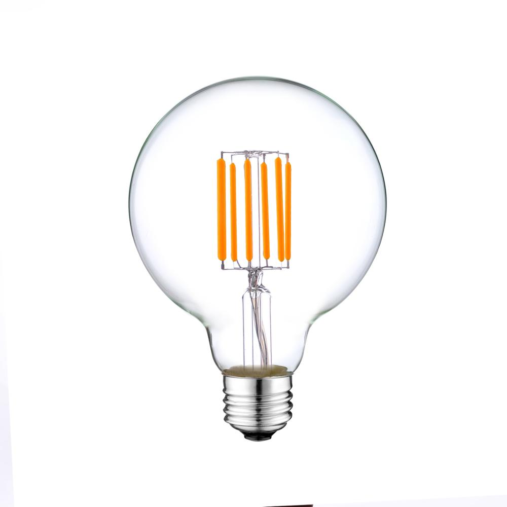 360 Degree Clear G80 LED Filament Light warn white 6W G80 balloon LED BULBS