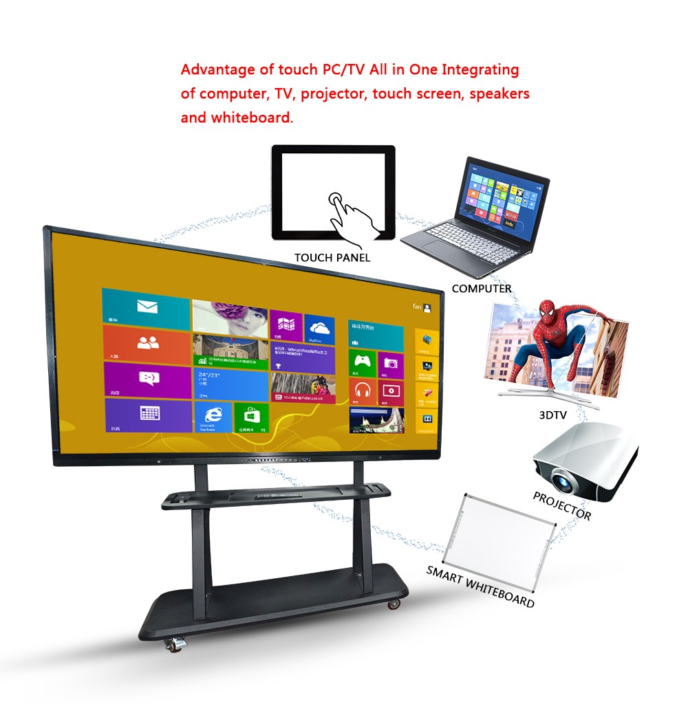65 inch Electronic LED Interactive Whiteboard / Multi-Touch LED TV For Teaching