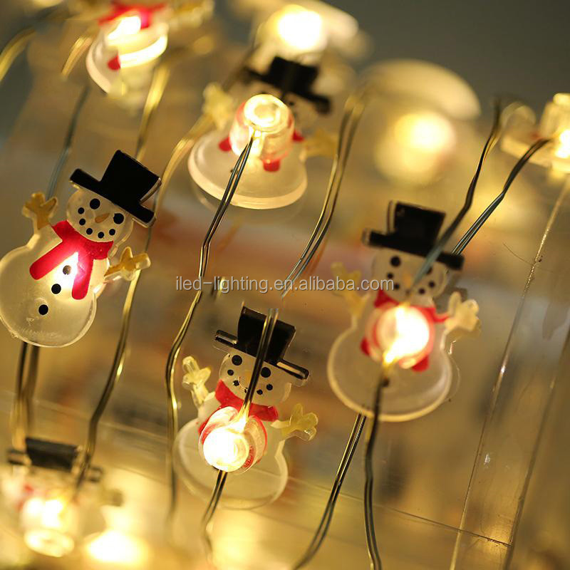 Wholesale product decorative Halloween holiday party 2m 20led string light Christmas snowman shape light