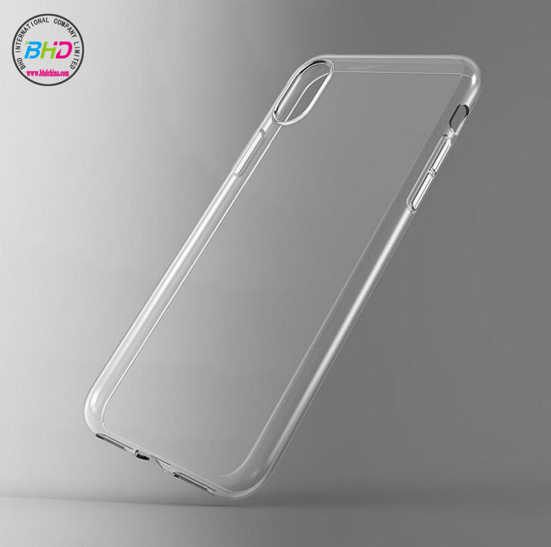 BHD 100% Clear transparent slim cell phone accessories mobile case for iphone 8