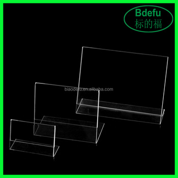 Clear Acrylic Slant Back Ad Sign Holderplastic Slanted Picture