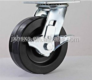 shock absorber long stem swivel brake scaffolding pu caster