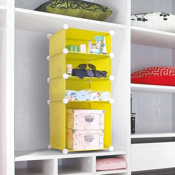 4 Cubes Clothes Storage Boxes,saving Space, Can Put Into Wooden Wardrobe (FH