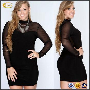 High Quality Plus Size Xxxl Evening Dress For Fat Women Club Wear