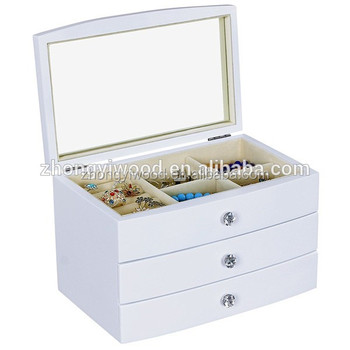 Premium Quality Wooden Treasure Packaging Jewelry Box with Lock