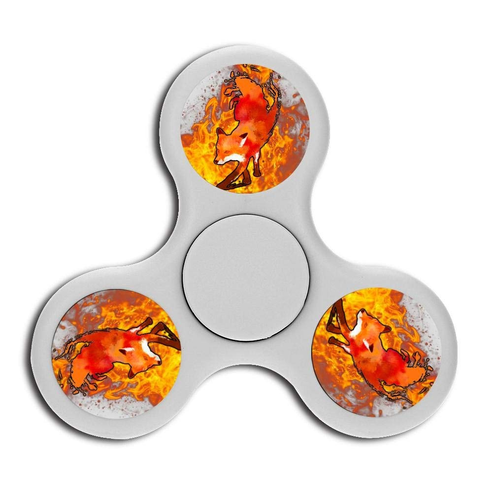 Vulpes head Fidget Spinner, hand rotation stress and anxiety relieve toys, treat ADHD, autism and ADD, promote calm clarity and focus White