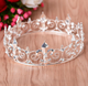 High Quality Round Metal Vintage Baroque Hair Jewelry Accessory Bridal Wedding Tiara King Crown