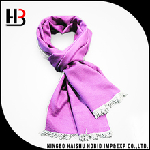 Promotion long silk scarf pink silk brushed scarf