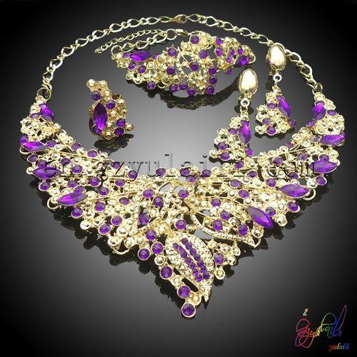 f31e0888534f joyas de cristal conjunto mayorista india novia personalizado jewelllery  bisutería conjunto importación de corea