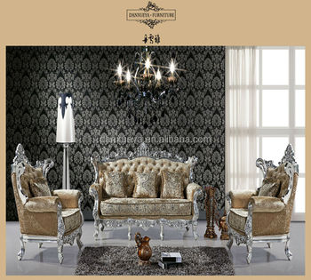 Foshan City Furniture Manufacturers Baroque Living Room Sofa Set