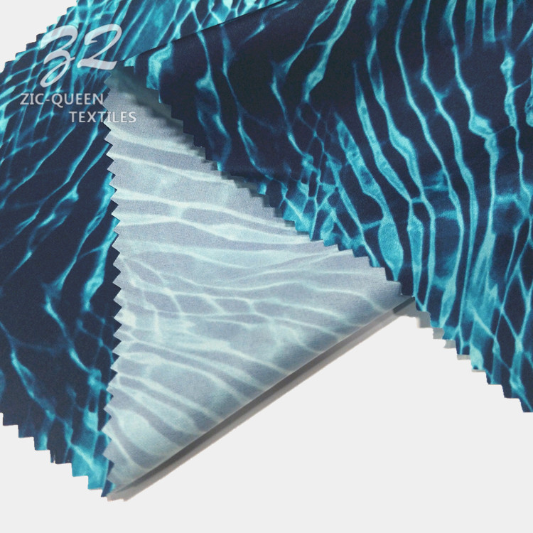Hygroscopic Sweat Releasing 60% Recycle Polyester 40% Polyester Printed Recycled Fabric