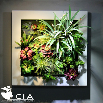 popular framed wall art artificial succulents arrangement