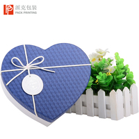 2019 new product romantic love heart shape box beautiful flower packaging box for wedding