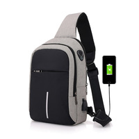High Quality China Supplier Fanny Single Shoulder USB Port Backpack Bag with Headphone Hole
