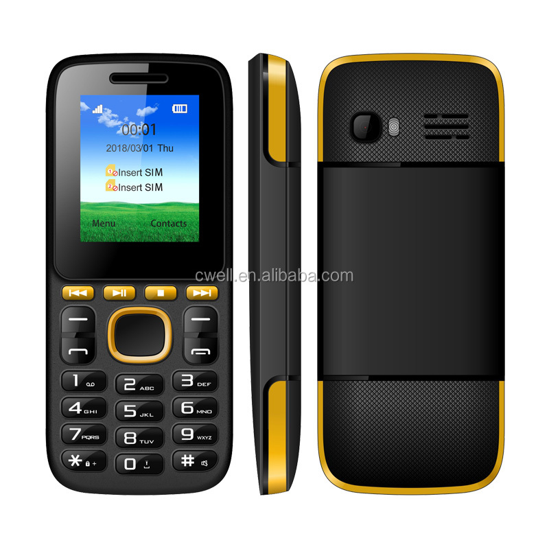 Hong Kong Cell Phone Prices 1.77 inch 2 Colors Cheap Dual SIM Card Mobile Phone With FM Radio And Multimedia Playback Shortcuts