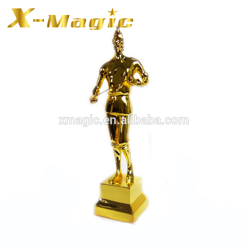Metal Golf Award Trophy Gold Plated Custom Figurine