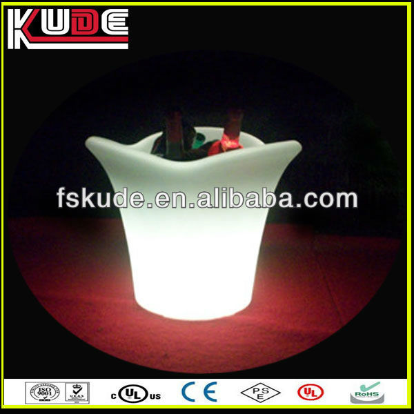 led lighted ice bucket, flashing led ice bucket,led illuminated ice bucket