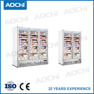 Bottom mount vertical freezer for c store