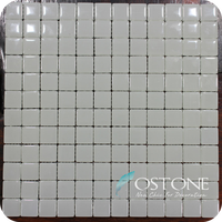 Top Sale Popular Design Square White Ice Jade Crystal Glass Mosaic