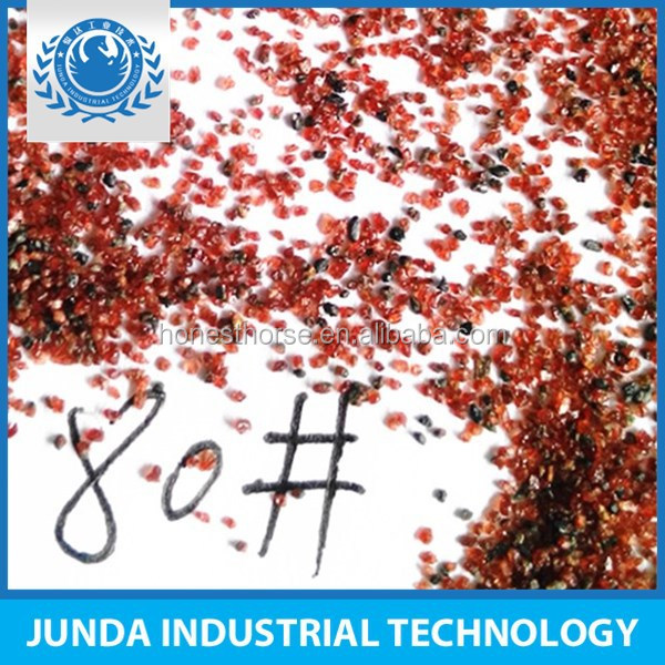 High tenacity Specific Weight 4.1 natural mined garnet abrasives used for waterjet stone cutting machine