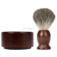 Natutal Wood Mug Bowl Badger Hair Hand Made Shaving Brush