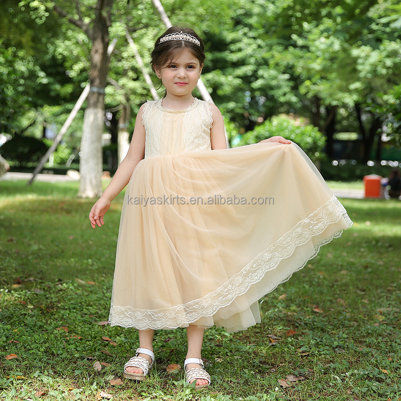 Children Frocks Designs 2017 Girls Party Wear Girl's Lace Dress