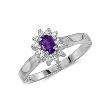 Hg19-am---925 Silver Ring 14k 18k White Gold Engagement Rings With ...