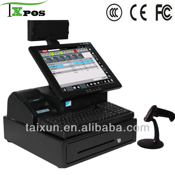 pantalla táctil caja registradora con escáner-Terminal ...