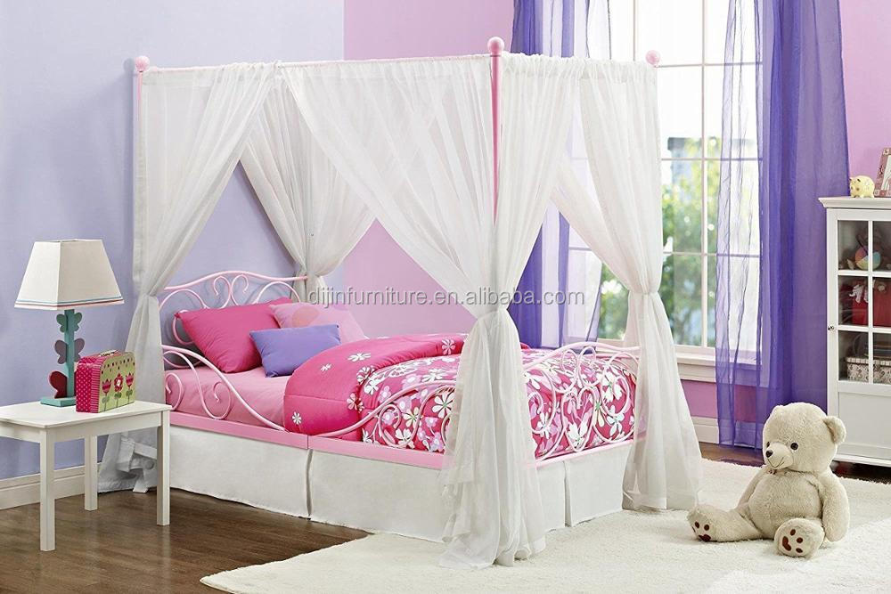 Metalen Frame Bed.Luifel Bed Twin Metalen Frame Bed In Roze 77 5x41 5x71 5 Nieuwe