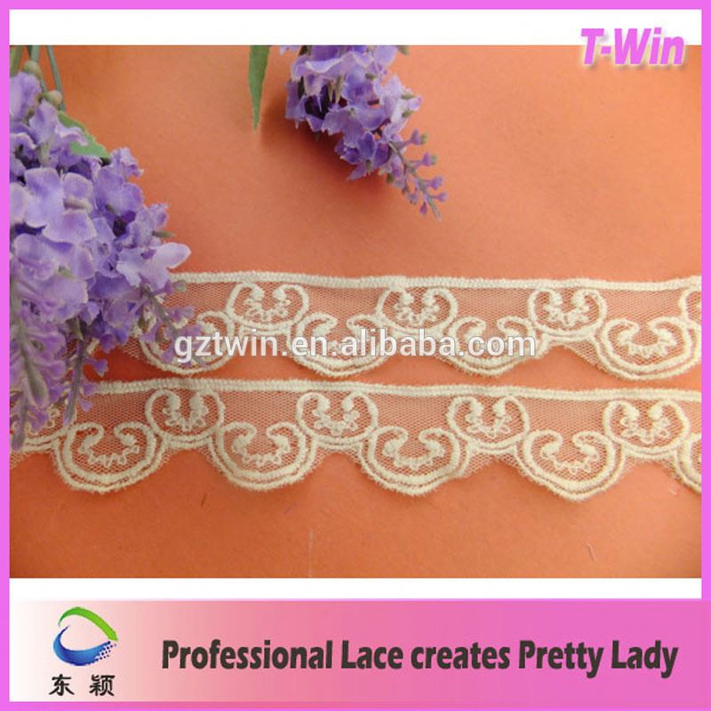 New designs French South America Guipure net chemical material milk silk lace trimming for garment