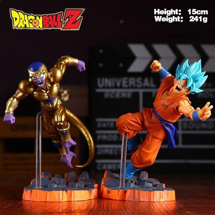 Dragon Ball Z Super Saiyan Goku Son Freeza Freezer Ultimate Form Anime Combat Edition PVC Action