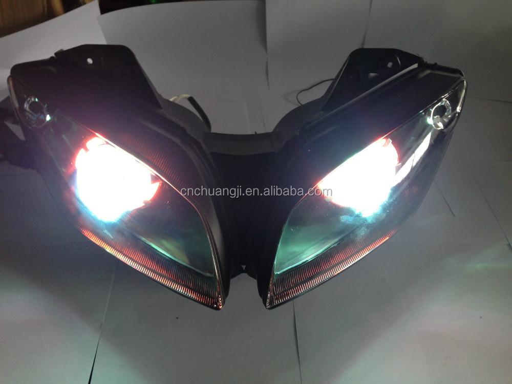 motorcycle parts for yamaha r15 headlamp HID front light