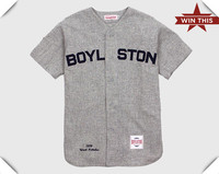 2013 blend grey color New fashion Twill cotton Vintage Baseball Jersey