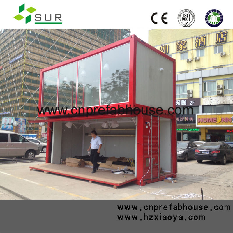 Shipping Container Bag Shop: Two Floor Of Expandable Container House For Coffe Shop
