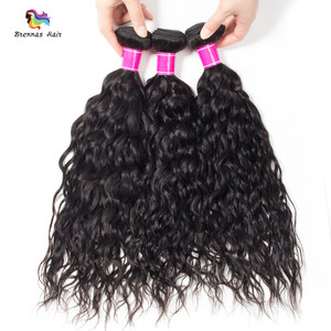 Mink brazilian premium virgin natural water wave hair 10A grade 8-30 inch natural black can be dyed can restyle