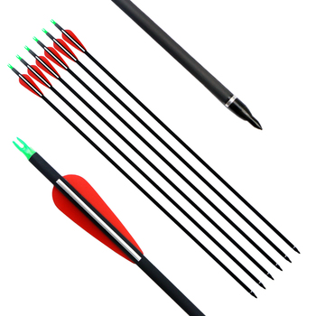 Hot Selling 30inch Carbon Arrows Practice Hunting Arrows With Removable  Tips For Compound Bow And Recurve Bow Arrow - Buy Carbon Arrows,Recurve Bow