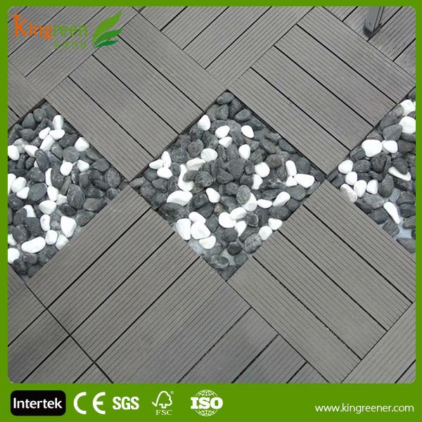 Cheap non slip wood plastic interlocking composite decking for Non slip composite decking