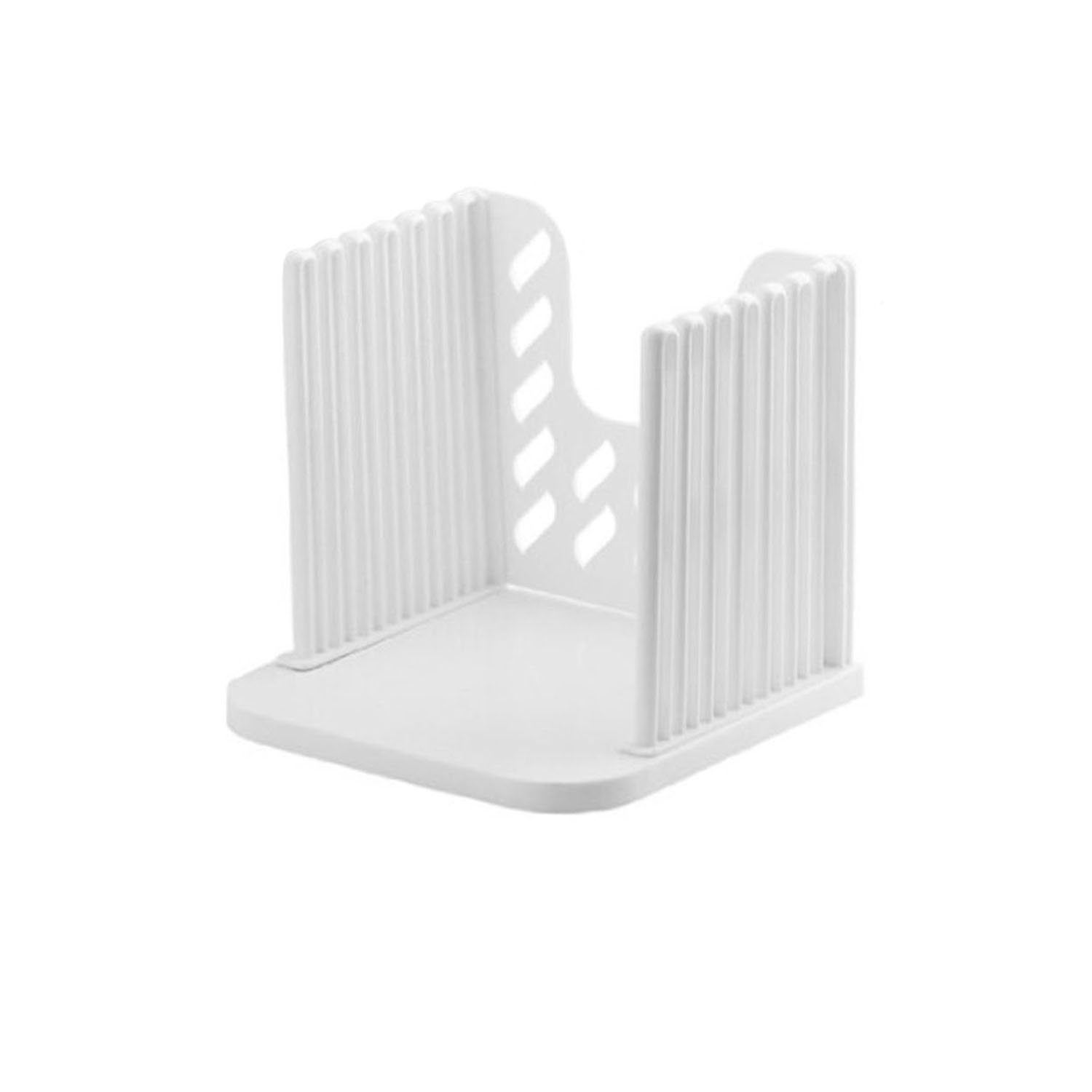 Bread Slicer Toast Slicer Toast Cutting Guide Bread Toast Slicer Bagel Loaf Slicer Sandwich Maker Toast Slicing Machine Folding and Adjustable Thicknesses Bread Cutter,White