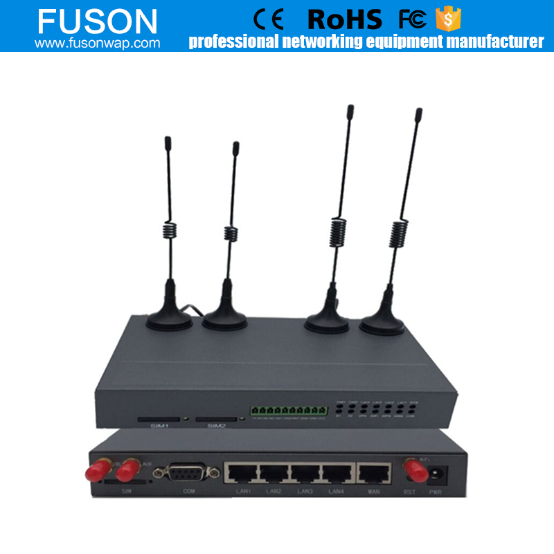 gprs gsm modem Industrial Wireless 3G 4-Port WCDMA Ethernet Router with Dual SIM, RS232&RS485