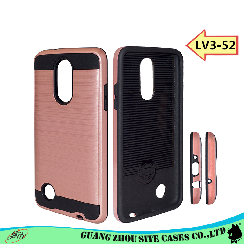 2017 luxury Brush metal hair lines card holder landyard cell phone case for LV3-52
