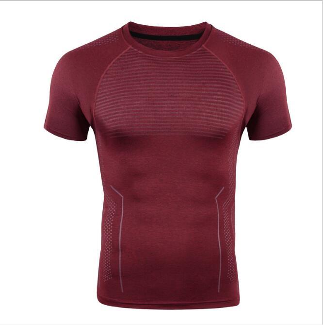 2017 Instyles Super Soft Men O-neck Sports Gym Blank Compression Shirts 5