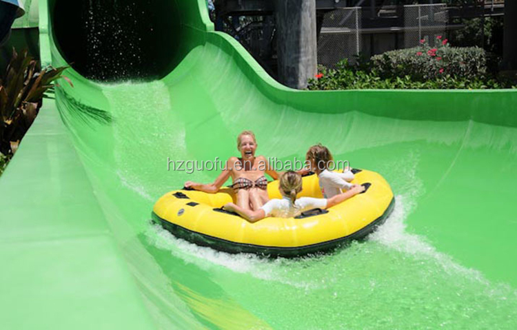 Новый дизайн ПВХ надувная водная горка круглая труба плот лодка для систем аквапарка