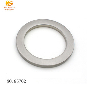 Quality handbag hardware accessories 1.5 inch flat metal o ring