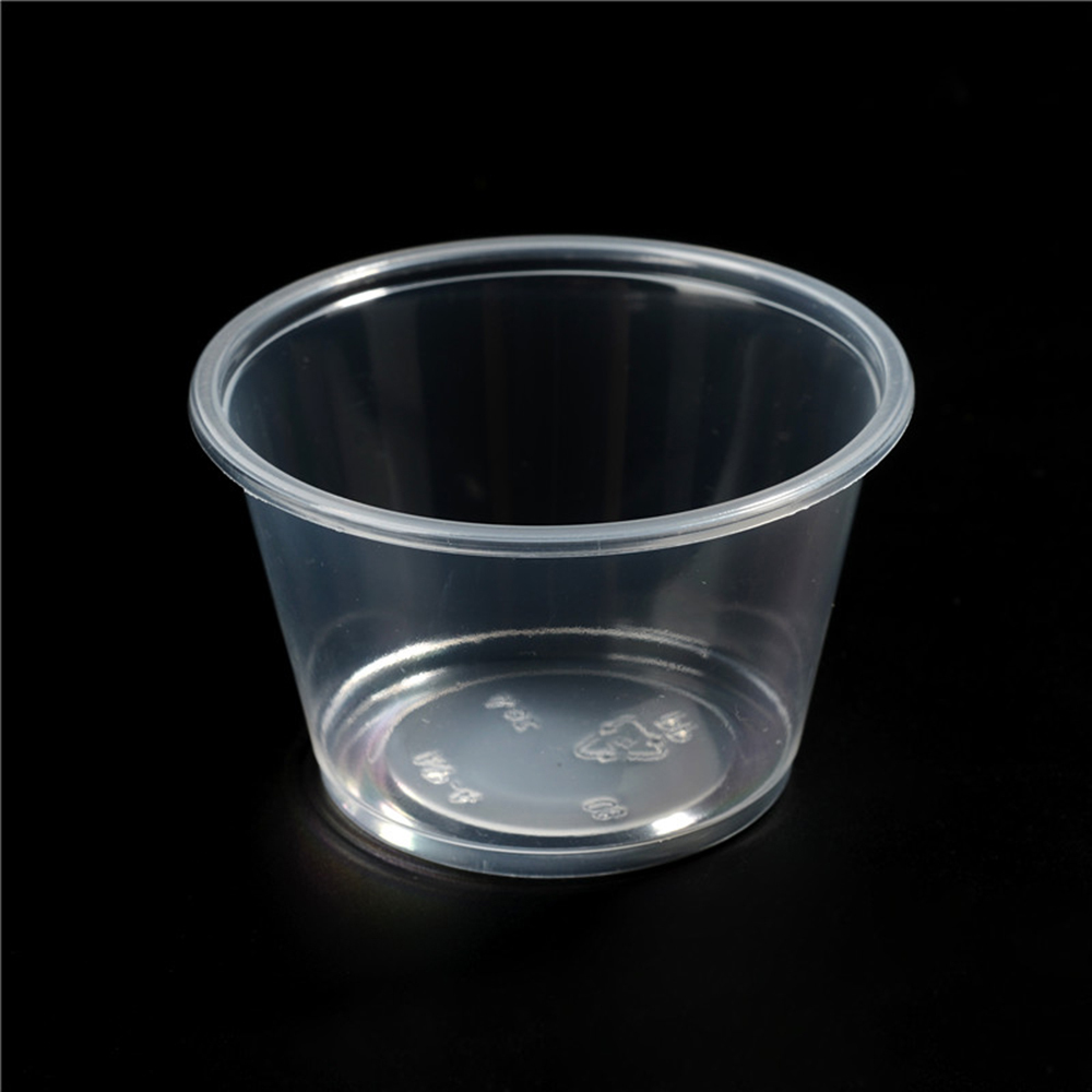 Pp high quality disposable small sauce cup with lids jam for Small plastic cups