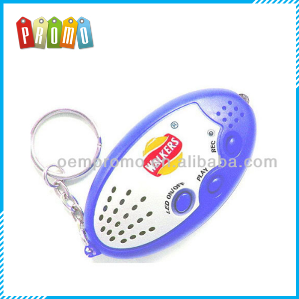 LED keychain with voice recorder (20s)