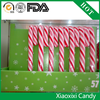 Decorative artifical christmas candy walking stick shape candy with ISO BRC HACCP FDA SGS certificate